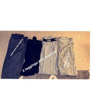 Pants - Victoria Secret leggings $15. The rest are $5 each